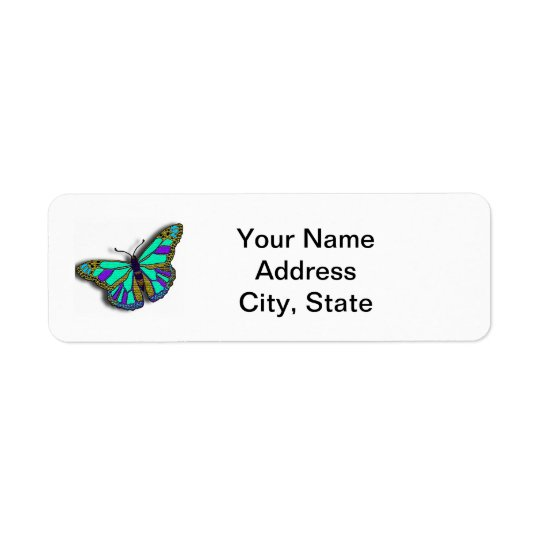 Butterfly Customisable Return Address Label