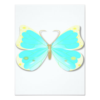 Butterfly cut out invitation