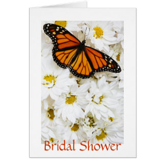 Butterfly Daisies Bridal Shower Card