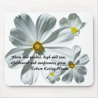 Butterfly Daisies Poem Mousepad