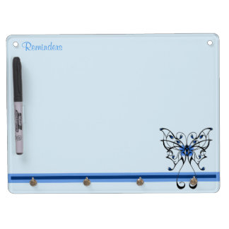 Butterfly Dance 2 Dry Erase Board With Key Ring Holder