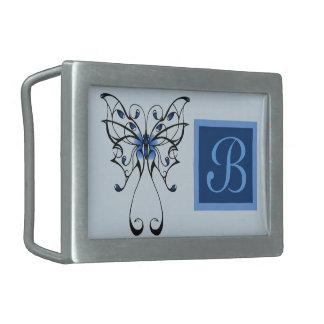Butterfly Dance 2 Rectangular Belt Buckles