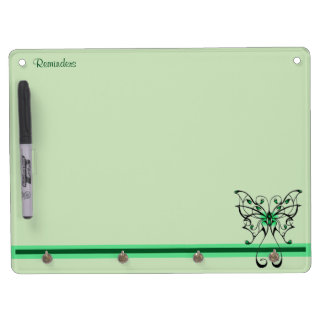 Butterfly Dance 3 Dry Erase Board With Key Ring Holder