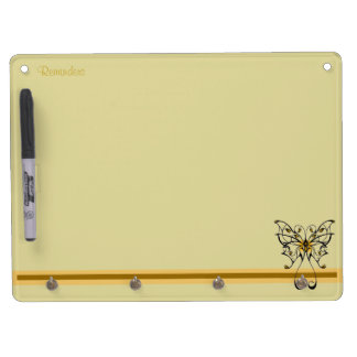 Butterfly Dance 4 Dry Erase Board With Key Ring Holder