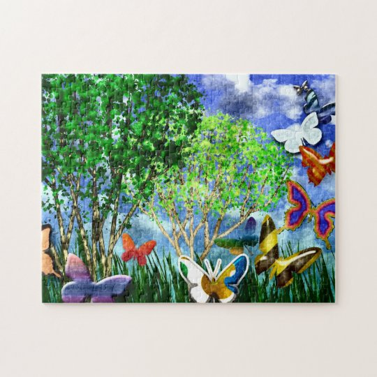 BUTTERFLY DANCE JIGSAW PUZZLE