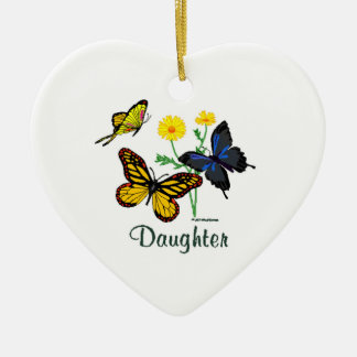 Butterfly Daughter Ceramic Heart Decoration