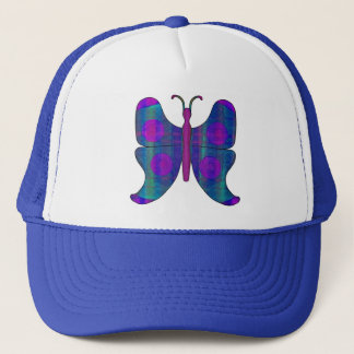 Butterfly DBlue Trucker Hat