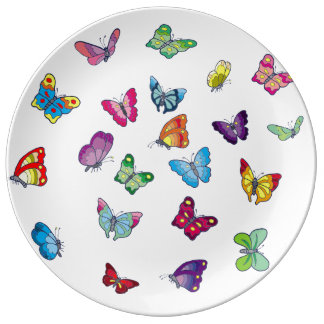 Butterfly Decorative Porcelain Plat Plate