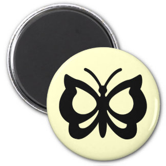 Butterfly Design 6 Cm Round Magnet