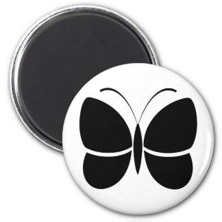 Butterfly Design 6 Cm Round Magnet