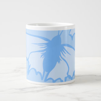 Butterfly Design in Blue Extra Large Mug