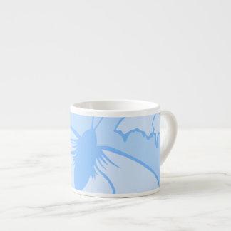 Butterfly Design in Blue Espresso Mugs