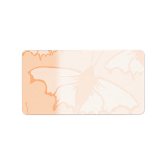 Butterfly Design in Orange. Label