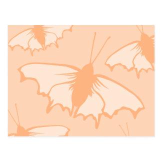 Butterfly Design in Orange. Post Card