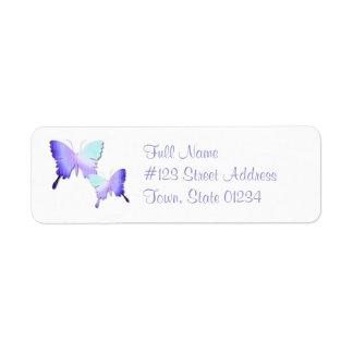 Butterfly Design Return Address Mailing Label Return Address Label