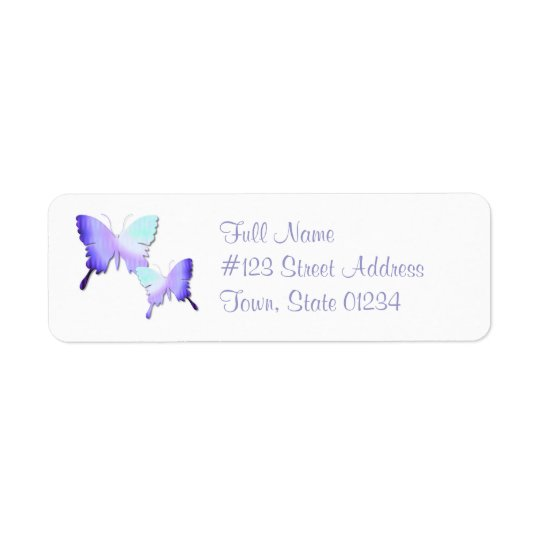 Butterfly Design Return Address Mailing Label Return Address Label