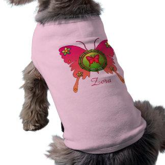 Butterfly Design Sleeveless Dog Shirt