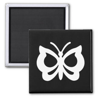 Butterfly Design Square Magnet