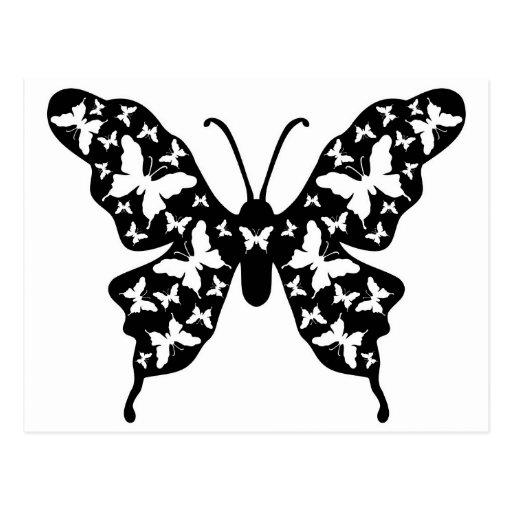 Butterfly Designer Ornamental Art Post Card