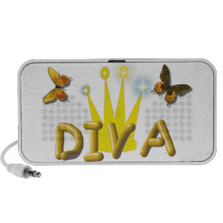 Butterfly Diva Doodle Notebook Speakers