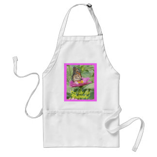Butterfly, Don't Let Life Flutterby! Adult Apron