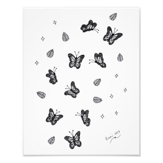 Butterfly Doodle 1 Art Photo