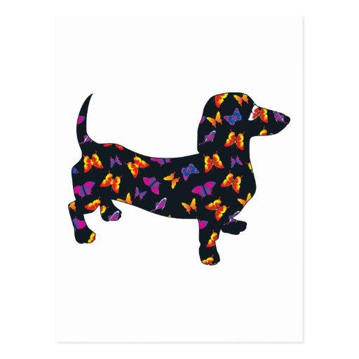 Butterfly Doxie Dachshund Postcards