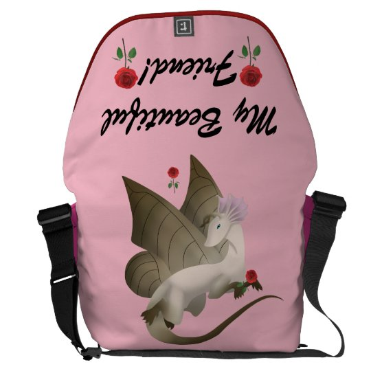 Butterfly Dragon Messenger Bag 2