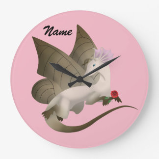 Butterfly Dragon Name Wall Clock
