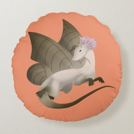 Butterfly Dragon Round Pillow 2