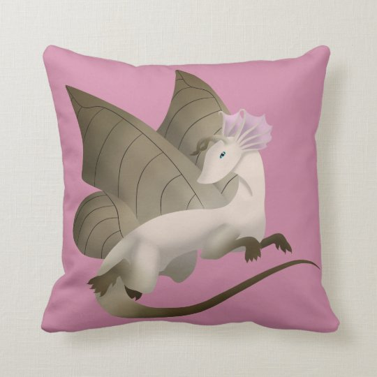 Butterfly Dragon Square Pillow 2