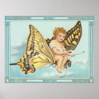Butterfly Dream Flight Poster