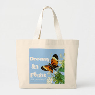 Butterfly (dream in flight) large tote bag