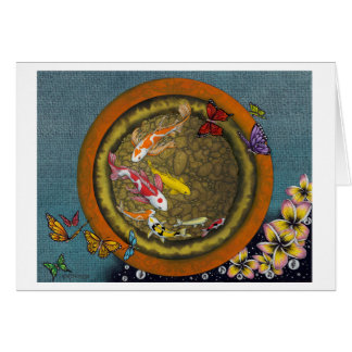 Butterfly Dream VI (I Ching Fish Pot) Card