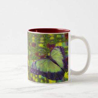 Butterfly Dreams Two-Tone Coffee Mug