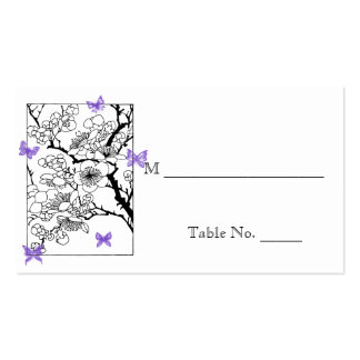 Butterfly Dreams: Violet Wedding Place Cards Business Cards