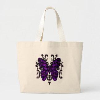 Butterfly Effect (purple) Jumbo Tote Bag