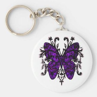 Butterfly Effect (purple) Basic Round Button Key Ring