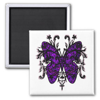 Butterfly Effect (purple) Square Magnet
