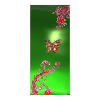 BUTTERFLY EMERALD green bright red pink violet Invitations