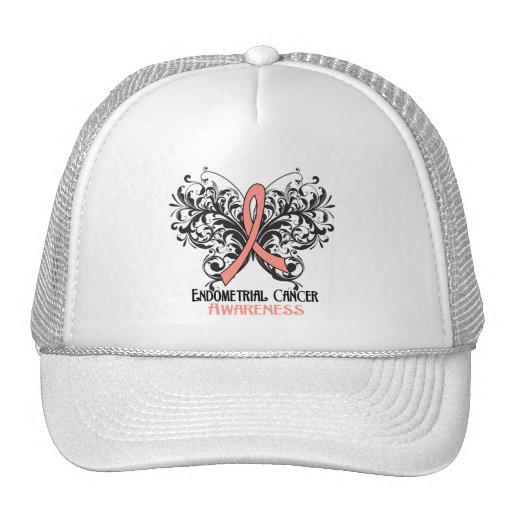 Butterfly Endometrial Cancer Awareness Cap
