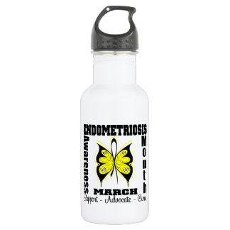 Butterfly Endometriosis Awareness Month 532 Ml Water Bottle