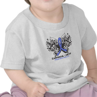 Butterfly Esophageal Cancer Awareness T-shirt