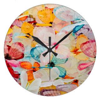 Butterfly exhibit wall clock