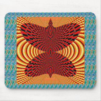 Butterfly Exotic Diamond Infinity Golden Fire GIFT Mouse Pads