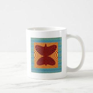 Butterfly Exotic Diamond Infinity Golden Fire GIFT Basic White Mug