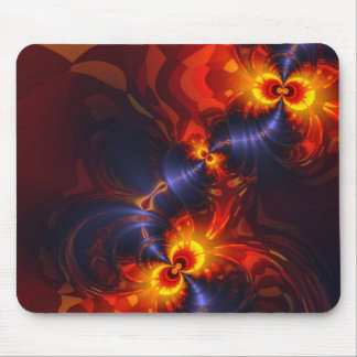 Butterfly Eyes - Violet Gold Wings Mouse Pads