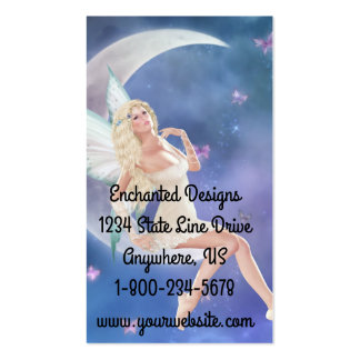 Butterfly Fairy Moon Business Cards
