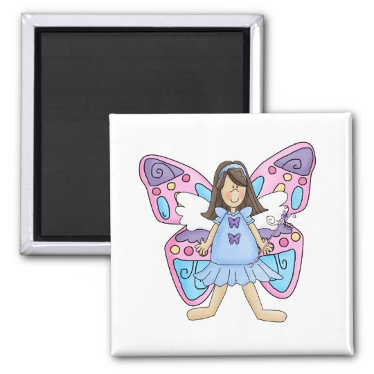 Butterfly Fairy Princess Square Magnet