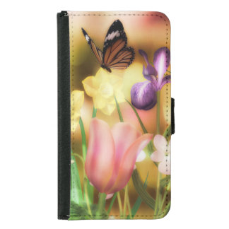 Butterfly fantasy Galaxy S5 or S4 Wallet Case